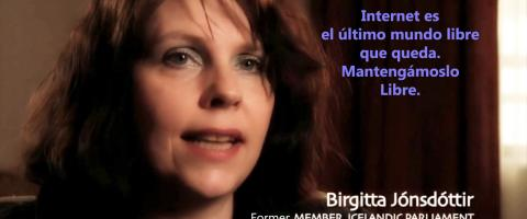 Mantengamos internet libre - Birgitta Jónsdóttir